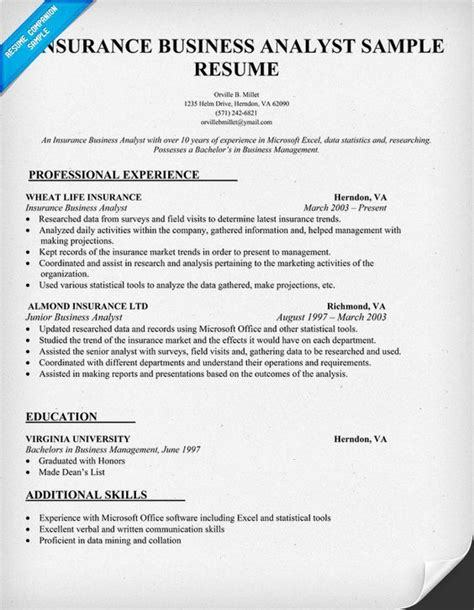 business analyst resume examples best sample best business analyst