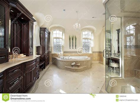 large master bath stock image image  upscale fixtures
