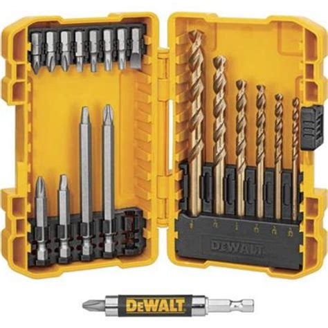 drill bit set home depot dewalt drill drive set 20 dwa20ddq4 the home depot