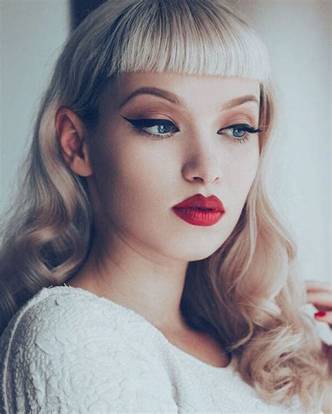finally this vintage bangs trend is making a return and what is rockabilly fashion retro makeup rockabilly and