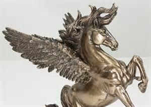 mythology statues new pegasus horse rearing greek mythology statue sculpture bronze finish ebay