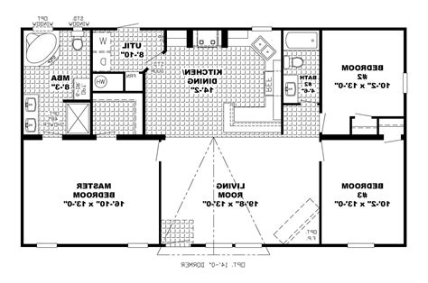 apartments floor plans for ranch style homes plans open