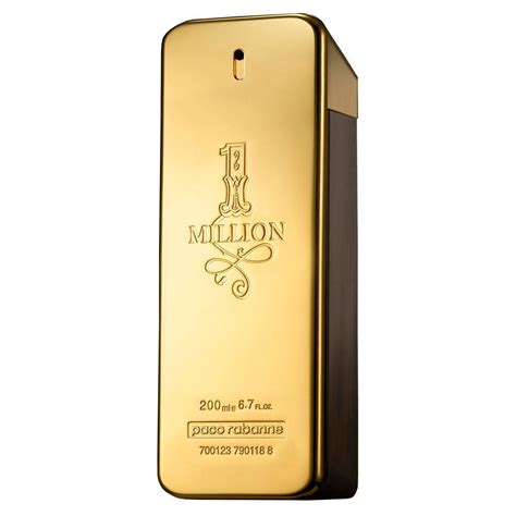 Parfum Million paco rabanne 1 million for eau de toilette 200ml spray