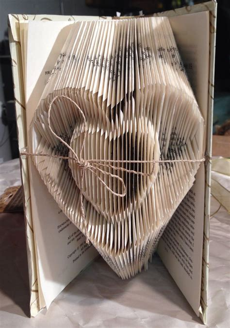 Paper Book Folding - s day folded book inside a