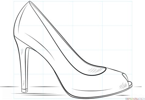 high heel template easy of high heels coloring pages