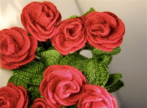 knitted flower bouquet the knitting needle and the damage done say it with