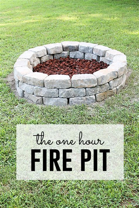 how to make a simple fire pit in your backyard fire pit project you can do in one hour