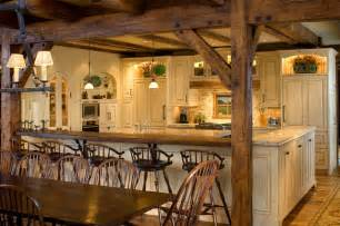 Timber frame kitchen rustic kitchen