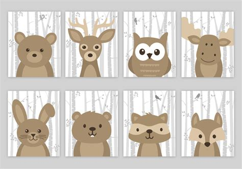 Woodlands Nursery Decor Woodland Nursery Woodland Nursery Decor Forest Animal