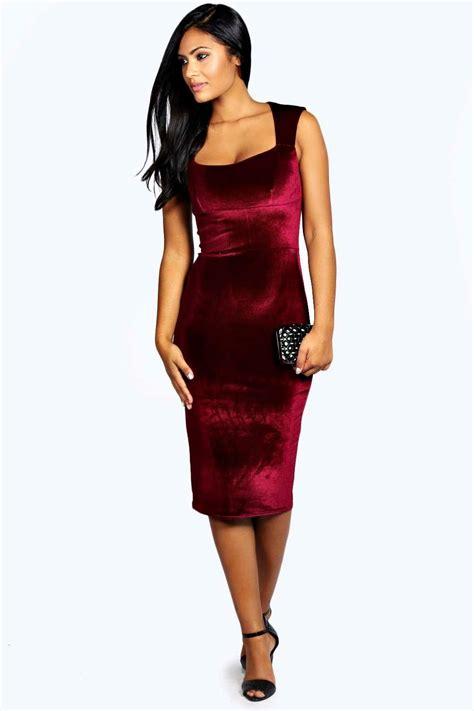 Velvet Mididress boohoo womens leanne velvet sweetheart midi dress ebay