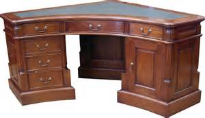 Corner Computer Desk With Hutch Mahogany Wood Furniture