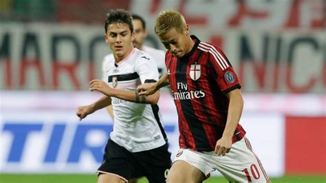 Epoch Milan Soccer Card Keisuke Honda Ac Milan Set 3 Kartu nagatomo says he ll celebrate milan derby goal with bow or