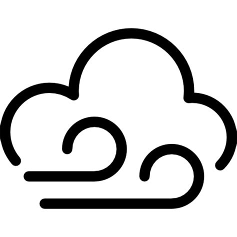 Wind And Cloud wind and cloud free weather icons