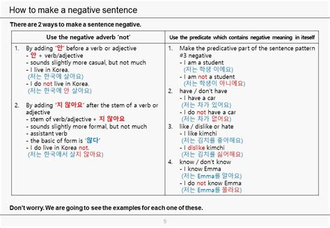 sentence pattern number 5 lesson 4 part 3 part 4 video add elements to 5
