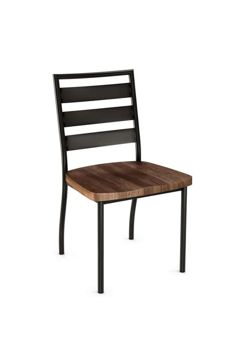 Cargo Dining Chairs Amisco Dining Chair W Wood Seat Industrial Modern Free Shipping