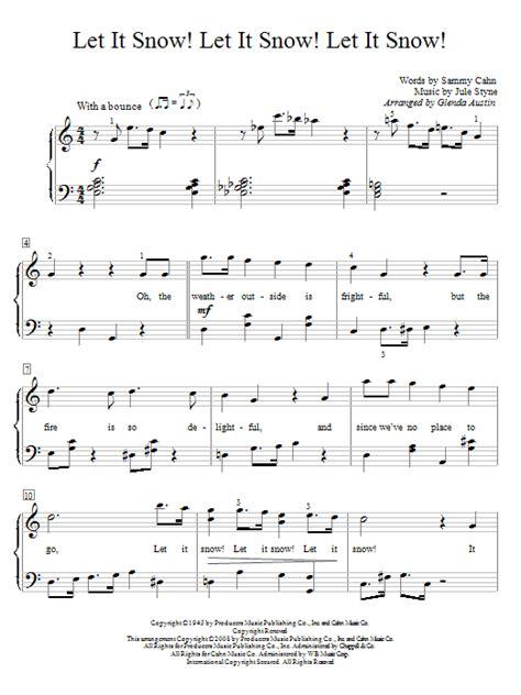 printable lyrics let it snow let it snow let it snow let it snow sheet music direct