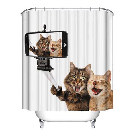 animal home decor 12 hooks cute animal bathroom shower curtain waterfproof