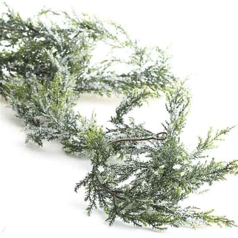 snowy artificial cedar garland holiday florals
