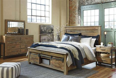 ashley furniture  sommerford modern queen king panel bed frame bedroom set ebay