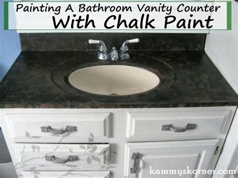 diy chalk paint countertops kammy s korner painting a porcelain vanity countertop