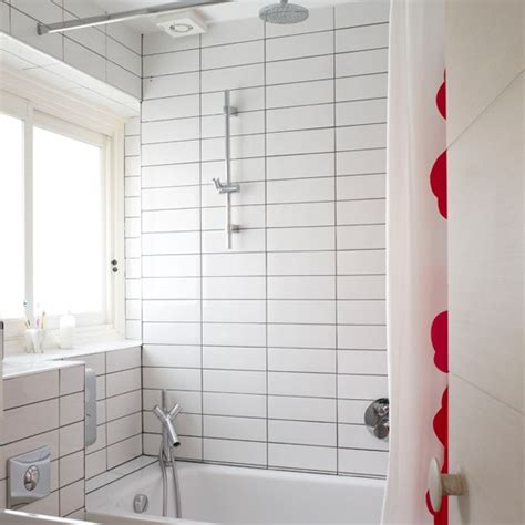 bathroom white brick tiles utilitarian bathroom modern bathroom housetohome co uk