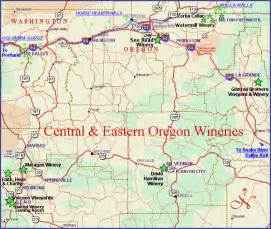 central oregon and eastern oregon wineries and map