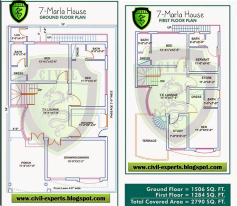 3 Marla House Design Story Civil Experts 7 Marla House Plans