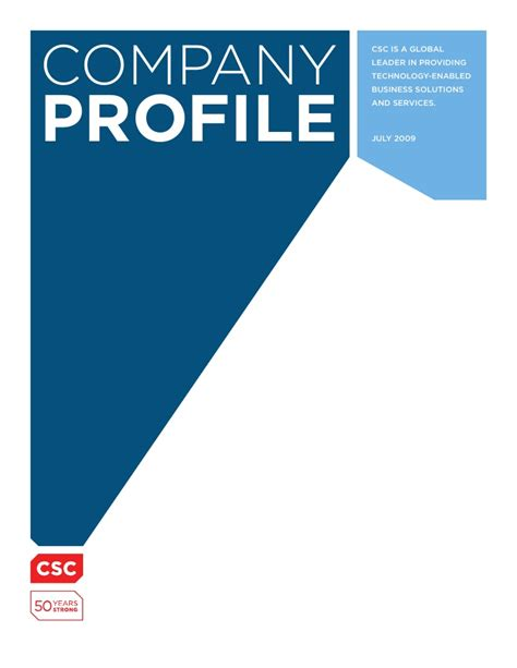 company profile sle layout company profile csc company profile