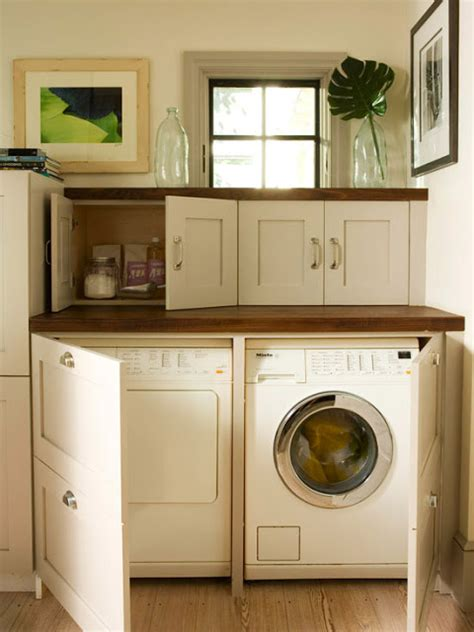 washer dryer in kitchen ideas for hiding the washer and dryer driven by decor