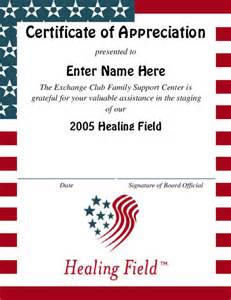 editable certificate of appreciation template award certificate templates