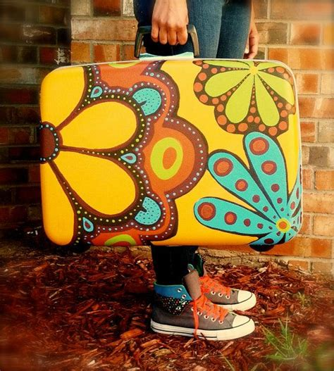 spray paint hippie the 25 best painted suitcase ideas on vintage