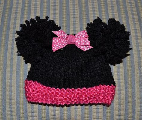 loom knit minnie mouse hat 15 must see knitted hats pins how to knit a hat