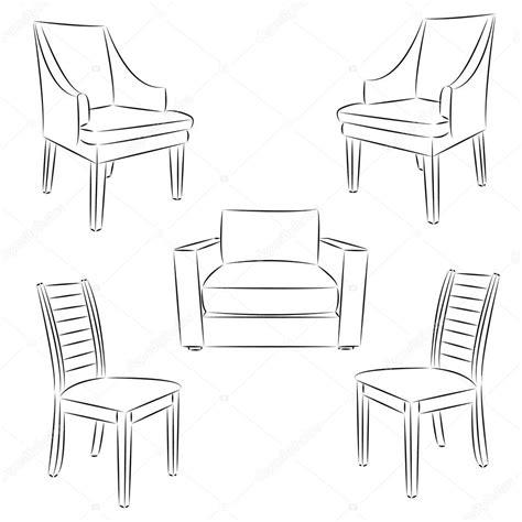 stuhl zeichnen stuhl symbol klassischen stuhl kontur kontur zeichnen