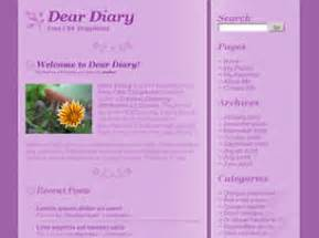 Dear Diary Template by Free Css Website Templates Page 27 Of 214 Free Css