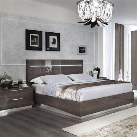 double bedroom size uk caligula platinum silver birch high gloss 4 6 double bed