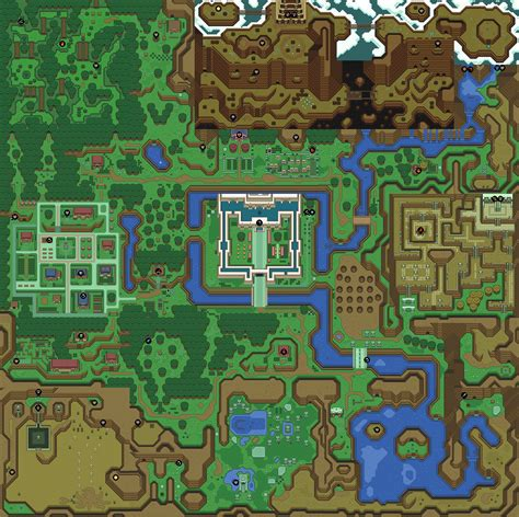 legend of zelda map labeled mike s rpg center zelda a link to the past maps