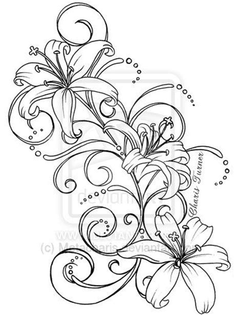 lily swirl tattoo designs 127 best images about ideas on pink
