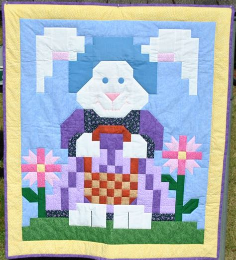 Bunny Quilt Patterns Free by Easter Rabbit Quilt Pattern Free 016e Quilts