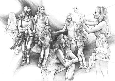 Drawing Human by Amanda Seyfried Human Drawing Practice By Kasiarzynka On