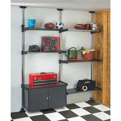 adjustable shelf rack system with bike rack 159140