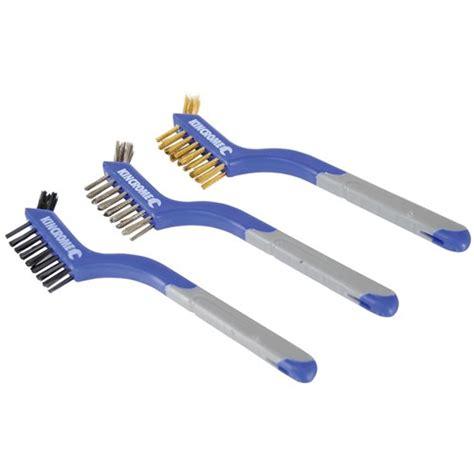 Sale 3 Pc Wire Brush Set Sikat Steel Copper wire brush set small 3 brushes 3 kincrome australia pty ltd kincrome