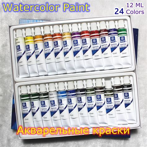 professional brand watercolor paint paper pigment supplies acrylic paints each drawing
