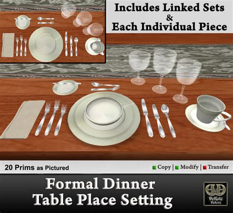 Dining Table Place Settings Second Marketplace Formal Dinner Table Place Setting