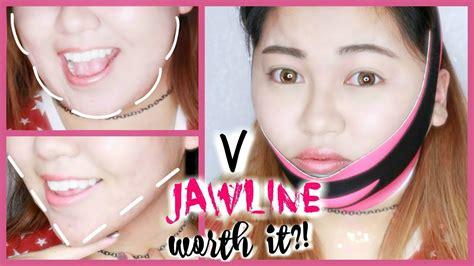 Masker V Shape v shape jawline mask review ft hideous kpop