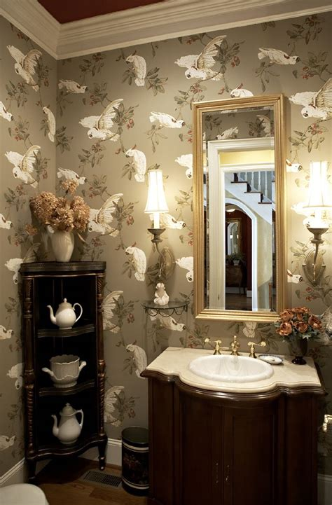 wallpaper powder room powder room powder rooms pinterest