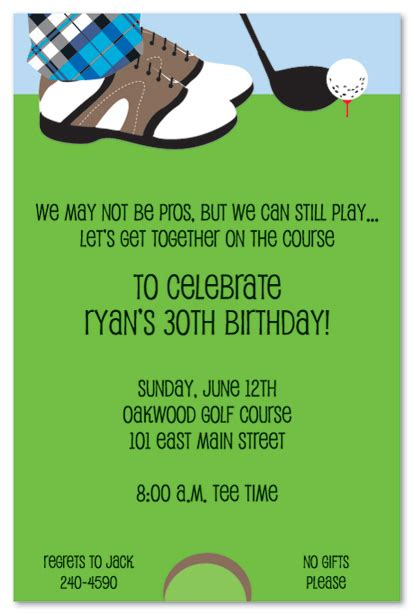 golf invitation card design golf birthday invitations template best template collection