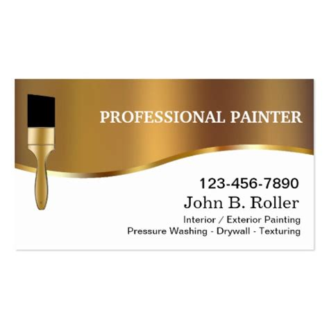 Painter Business Card Template 50 000 painter business cards and painter business card