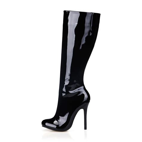 black high heel knee high boots buy wholesale black patent knee high boots from