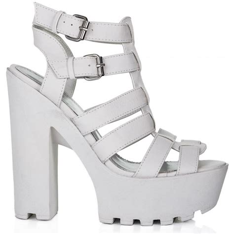 buy loveme cleated sole platform sandal shoes white