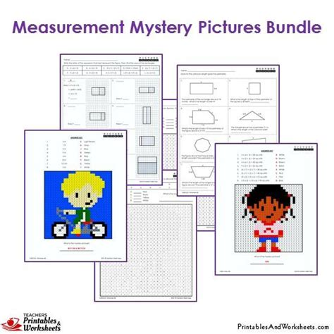3rd Grade Measurement Worksheets by 3rd Grade Measurement Mystery Pictures Coloring Worksheets